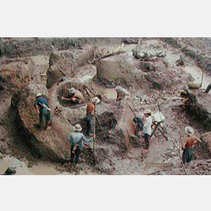 Phan- Excavation of the Phan - Pong Daeng kilns by the Fine Arts Department in 1973