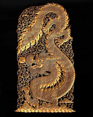 Leather Silhouette, 'Gold Dragon' © Ezistock Co., Ltd.
