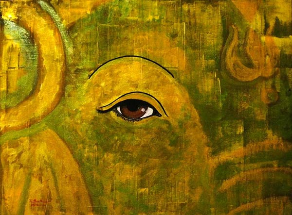 Acrylic on canvas, 'The eye' © Santhan Limpaiboon