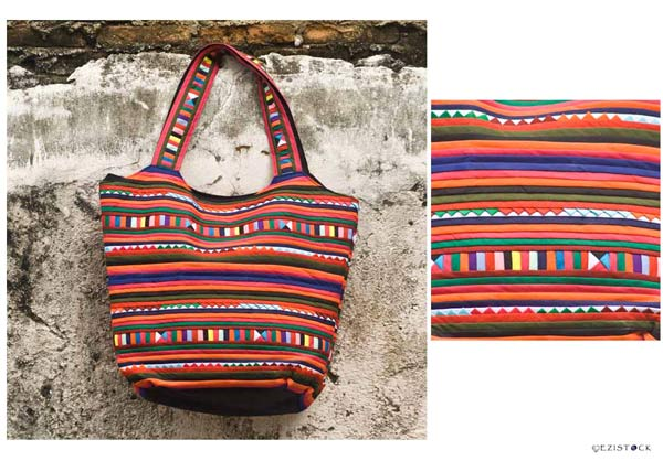 Cotton shoulder bag, 'Spicy Chili' © Ezistock Co., Ltd.