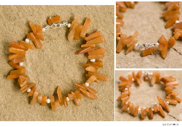 Jade and pearl bracelet, 'Orange Augury' © Ezistock Co., Ltd.