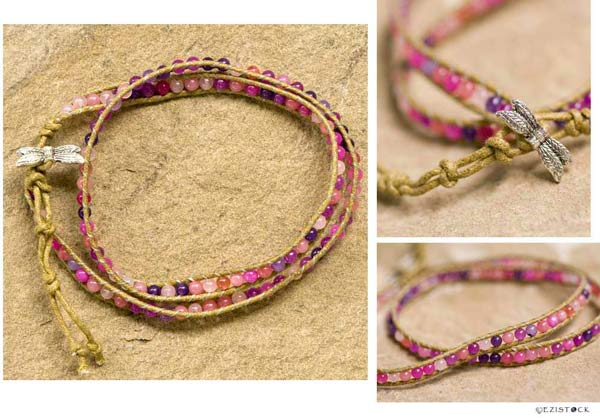 Quartz wrap bracelet, 'Berry Season' © Ezistock Co., Ltd.