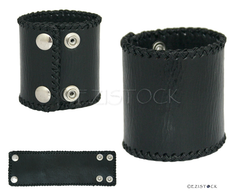 Leather bracelet, 'Courage' - Click Image to Close