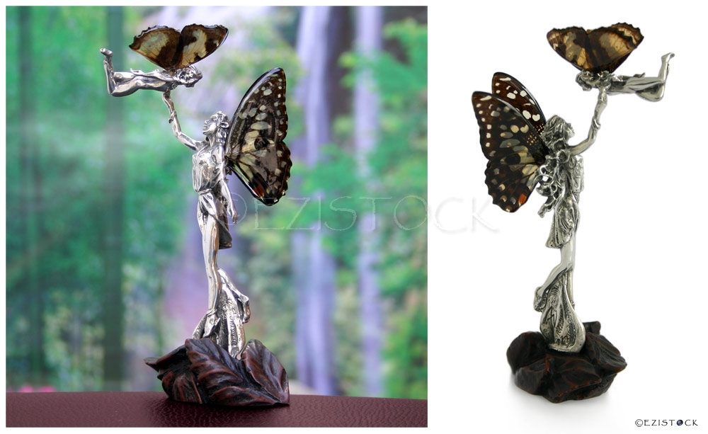 Fairy figurine, 'Maternal Love' (II) - Click Image to Close