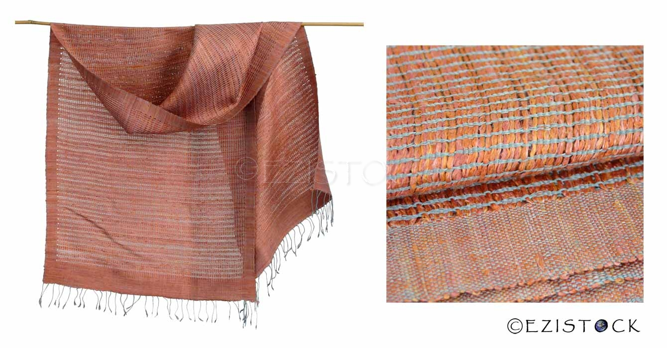Silk scarf, 'Earth Weave' - Click Image to Close