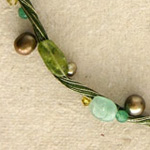 Pearl and peridot necklace, 'Tropical Liana'