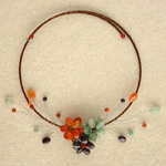 Garnet and carnelian choker, 'Forest Bouquet'