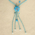 Turquoise and topaz necklace, 'Azure Magnificence'