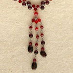 Garnet pendant necklace, 'Fiery Red Allure'
