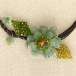 Quartzite flower necklace, 'Spring Renewal'
