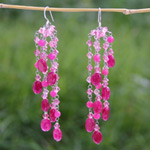 Quartzite dangle earrings, 'Sweet Cherries'