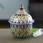 Benjarong porcelain box, 'Hidden Treasure'