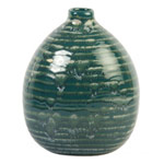 Ceramic vase, 'Green Wash'