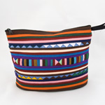 Cotton cosmetic handbag, 'Lisu Heaven'