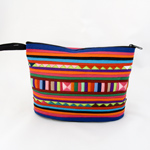 Cotton cosmetic handbag, 'Lisu Spices'