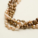 Pearl and gold plated silver necklace, 'Elegance of Nature'
