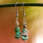 Turquoise and jasper earrings, 'Skyfall'