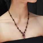 Garnet necklace, 'Royal Red'