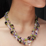 Mixed gemstones necklace, 'Eternal Femininity'