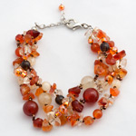 Carnelian and citrine bracelet, 'Orange Bouquet'