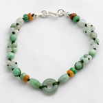 Jade bracelet, 'Green Oracle'