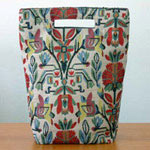 Cotton handbag, 'Floral Mirage' (tall)