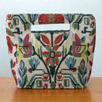 Cotton handbag, 'Floral Mirage' (small)