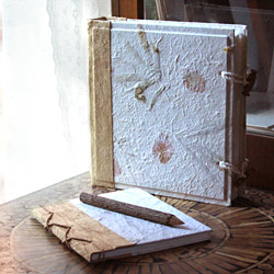 Handmade mulberry paper journals and albums