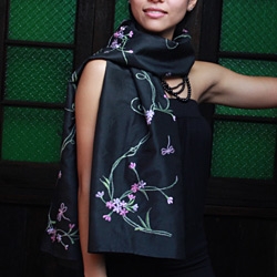 Handmade silk scarves from Thailand