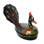 Lacquered box, 'Peacock'
