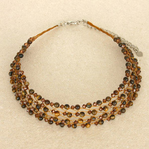 Tiger eye choker, 'Brown Lace'