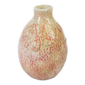 Ceramic vase, 'Sweet Fragrance'