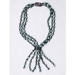 Jade and onyx necklace, 'Rain Forest'
