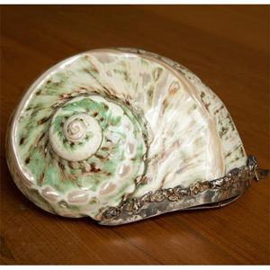 Silver and seashell statement bag, 'Siren Glory'