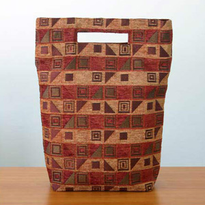 Cotton handbag, 'Cherry Cubism' (tall)