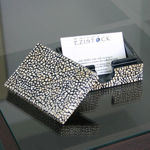 Lacquered name card box, 'Ice Shelf'