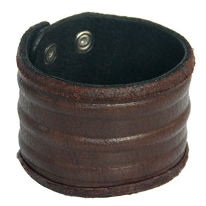 Leather bracelet, 'Distant Land'