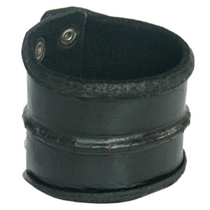 Leather bracelet, 'Tide'