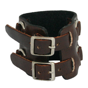 Leather bracelet, 'Power'