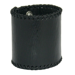 Leather bracelet, 'Courage'