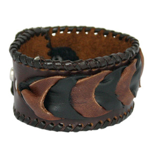 Leather bracelet, 'Tolerance'