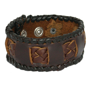 Leather bracelet, 'Secret Garden'