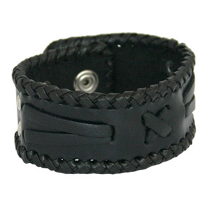Leather bracelet, 'Shooting Star'