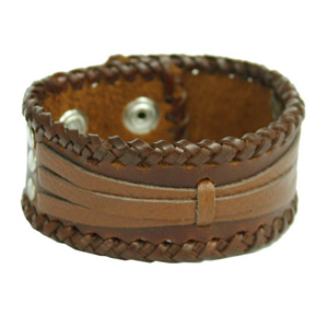 Leather bracelet, 'Speed II'