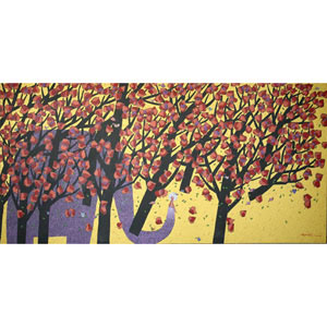 Acrylic on canvas, 'Flying Trees'