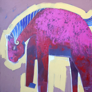 Acrylic on canvas, 'Spirited Horse'