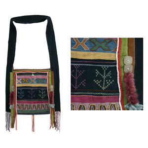 Akha cotton shoulder bag, 'Lomi Legacy'