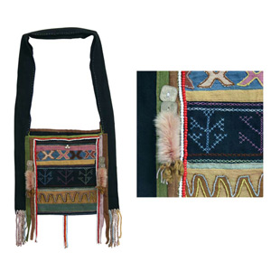 Akha cotton shoulder bag, 'Ethnic Day'