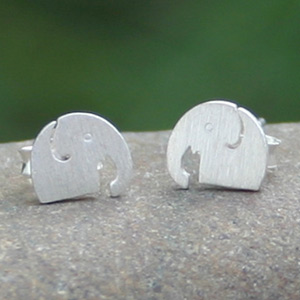 Sterling silver button earrings, 'Good Nature'