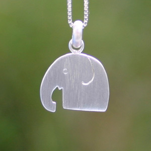 Sterling silver pendant necklace, 'Mighty Elephant'